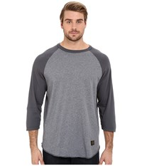 Huf Standard Issue Raglan Charcoal Men's Long Sleeve Pullover Gray