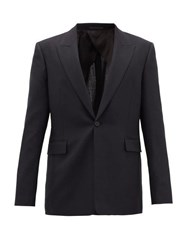 The Row Mason Single Breasted Tropical Wool Suit Jacket Dark Navy