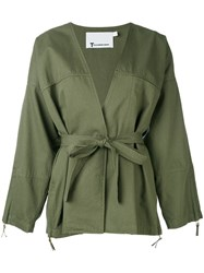 Alexander Wang T By Kimono Jacket Women Cotton S Green