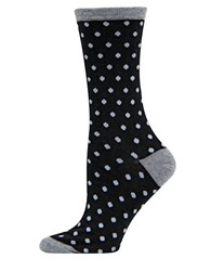 Hot Sox Holiday Polka Dot Socks Black