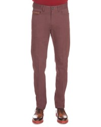 Berluti Five Pocket Denim Pants Wine Red