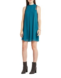 Bcbgeneration Lace Trimmed Tent Dress Teal
