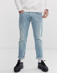 Replay Rob Straight Tapered Fit Jeans In Light Wash Blue