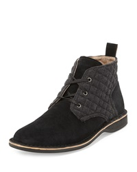 Andrew Marc New York Andrew Marc Dorchester Quilted Suede Chukka Boot Black Dee