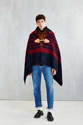 Woolrich Fireside Cape Poncho Navy