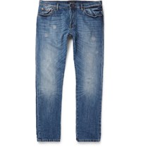 Valentino Distressed Denim Jeans Blue