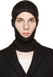 Rick Owens Black Virgin Wool Balaclava