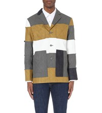 Kenzo Patchwork Linen Jacket Anthracite