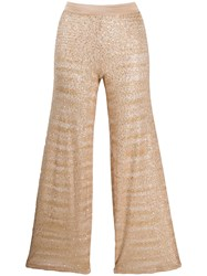 Missoni Cropped Pull On Trousers Neutrals