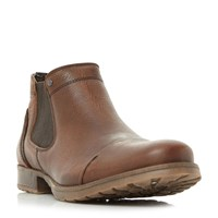 Dune Chesney Toecap Distressed Chelsea Boots Brown