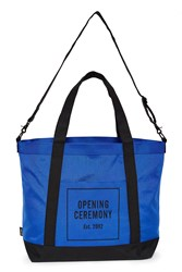 Opening Ceremony Oc Logo Two Tone Weekend Bag Blue