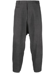 R 13 R13 Dropped Crotch Trousers Grey
