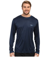 Mountain Hardwear Wicked L S Tee Hardwear Navy Men's Long Sleeve Pullover Blue
