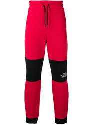 The North Face Bicolour Track Trousers Red