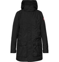 Canada Goose Crew Dura Force Light Shell Hooded Jacket Black