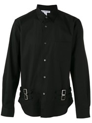 Comme Des Garcons Shirt Buckle Detail Long Sleeve Shirt Black