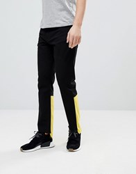 Granted Raw Edge Jeans With Contrast Panel Black