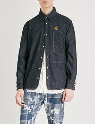 Anglomania Relaxed Fit Deconstructed Denim Shirt Blue Denim