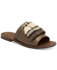 Frye Women's Riley Tassel Slide Sandals Women's Shoes Grey