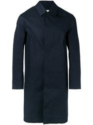 Mackintosh Button Down Coat Blue