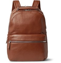 Shinola The Runwell Full Grain Leather Backpack Brown