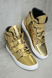 Forever 21 Radiii High Top Sneakers Gold