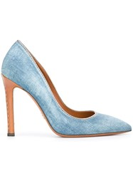 Ermanno Scervino Denim Pumps Blue