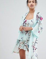 Ted Baker B By Flight Of The Orient Mint Kimono Green