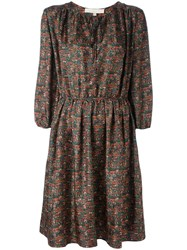 Vanessa Bruno Plant Print Dress Green