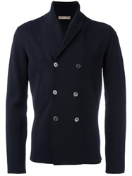 Cruciani Double Breasted Cardigan Blue