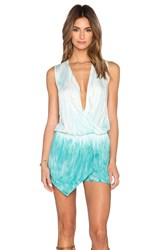 Young Fabulous And Broke Sinta Romper Turquoise