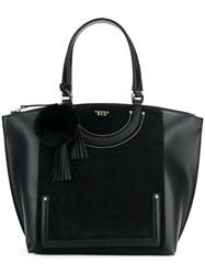 Tosca Blu Hanging Charm Tote Black