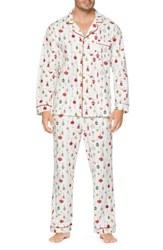 Bedhead Classic Pajamas Off White Red