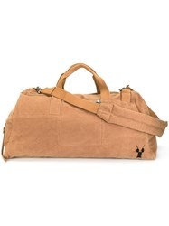 Rick Owens Drkshdw Embroidered Detail Holdall Nude Neutrals