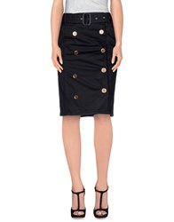 Daks London Knee Length Skirts Black