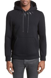 Neil Barrett Men's Thunderbolt Side Zip Hoodie