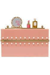 Charlotte Olympia Embellished Perspex Clutch Blush