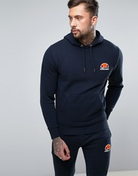 Ellesse Hoodie With Small Logo Navy