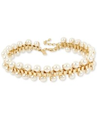 Inc International Concepts M. Haskell For Gold Tone Imitation Pearl Choker Necklace Only At Macy's
