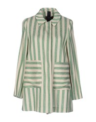 Femme By Michele Rossi Overcoats Green