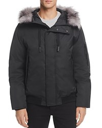 Andrew Marc New York Alpine Hooded Bomber Jacket Black