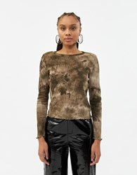 Which We Want Jessica Tie Dye Top In Brown