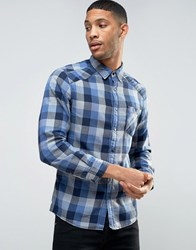 Esprit Shirt In Slim Fit Check Navy