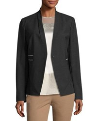 Brunello Cucinelli Wool Stretch Monili Trimmed Jacket Gray