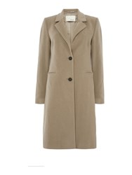 Oui Outerwear Cashmere Coat Taupe