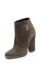 Theyskens' Theory Alito Suede Booties Tobacco