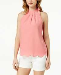 Maison Jules Scalloped Faux Tie Top Created For Macy's Coral Sand