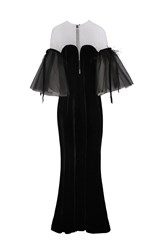 Yanina Demi Couture Illusion Off The Shoulder Gown Black