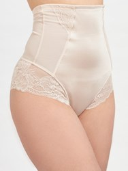 John Lewis Glamour Lace Control High Waist Brief Nude