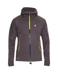 Peak Performance Shield Zip Through Hooded Nylon Jacket Grey Multi